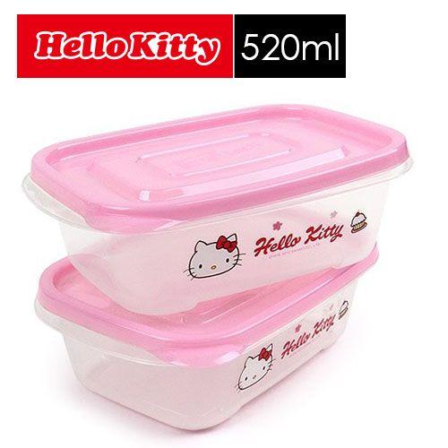 【SHOPPINESS】樂扣樂扣Hello Kitty EZ Lock保鮮盒_800ml(二入組)=>LOCK&LOCK LocknLock