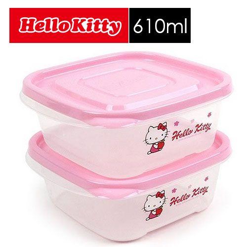 【SHOPPINESS】樂扣樂扣Hello Kitty EZ Lock保鮮盒_610ml(二入組)=>LOCK&LOCK LocknLock