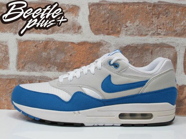 BEETLE PLUS NIKE AIR MAX 1 白藍 北卡 喬丹 90 95 慢跑鞋 男生 運動鞋 氣墊 378830-141 0