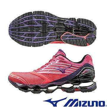 J1GD160067(紅X紫X黑)頂級鞋款 WAVE PROPHECY 5(W) 女慢跑鞋 A【美津濃MIZUNO】