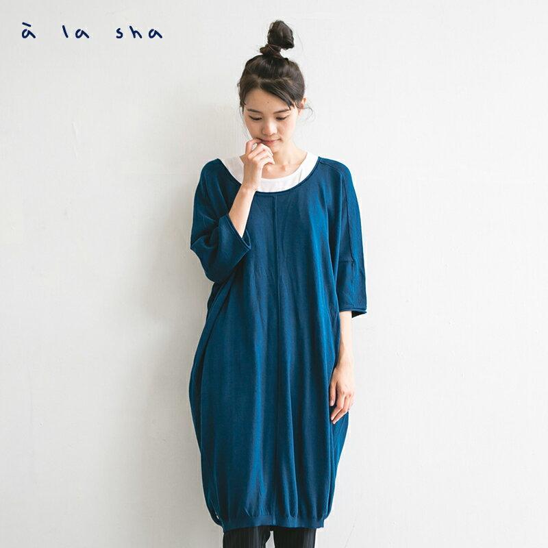 a la sha mucha 簡約設計感長版針織衫 2