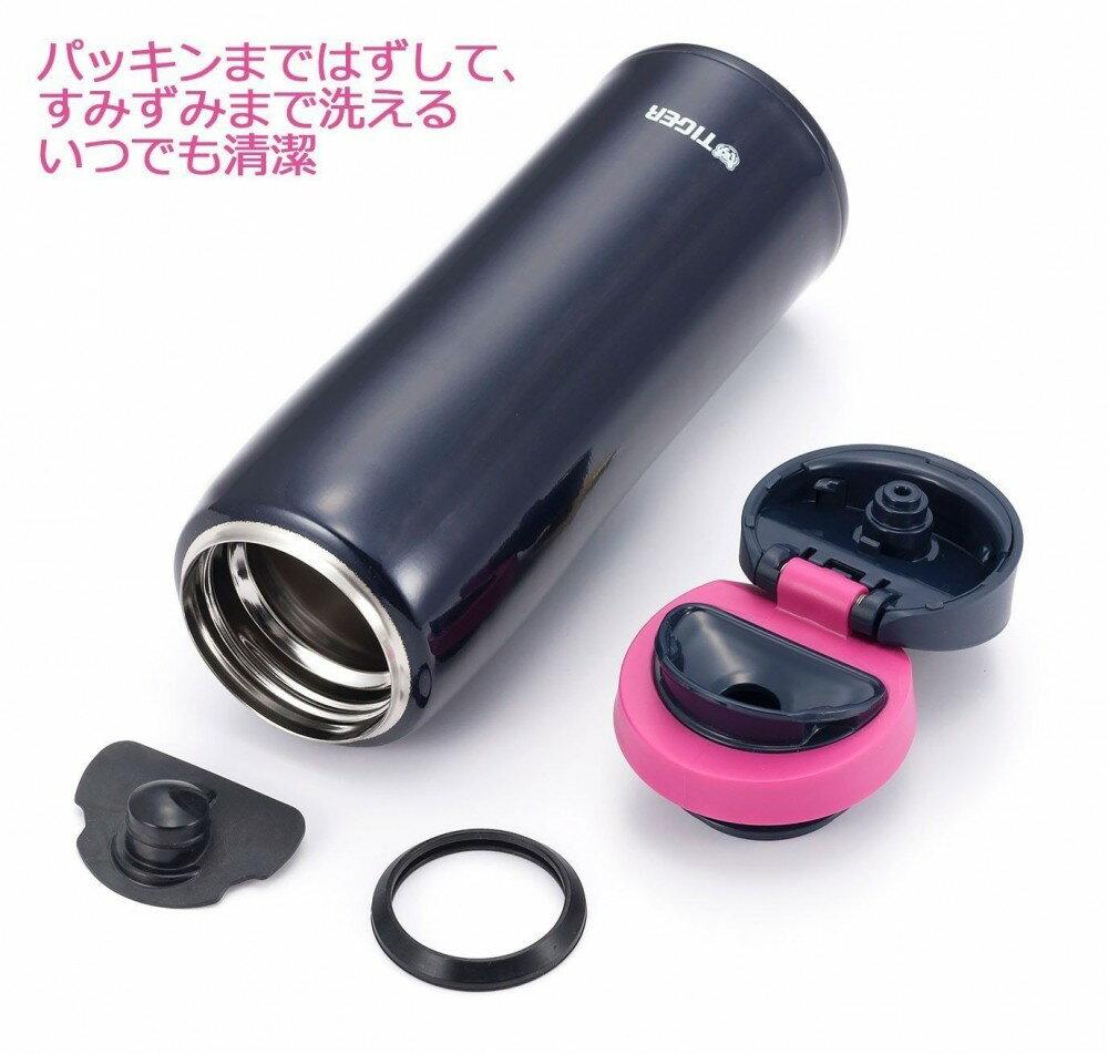 【日本直輸入-預購】TIGER虎牌保溫杯-彈蓋式480CC 不鏽鋼真空~ 日本限定款 - 黑色 3