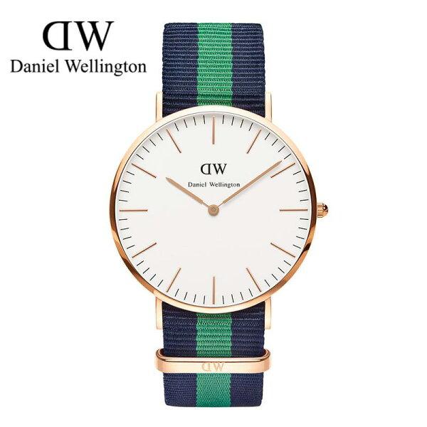 瑞典正品代購 Daniel Wellington 0105DW 玫瑰金 尼龍 帆布錶帶 手錶腕錶 40MM