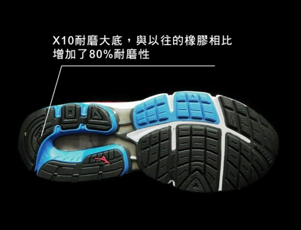 Mizuno美津濃 男款慢跑鞋 WAVE INSPIRE 12 支撐型 -湛藍紅 4