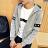 MIT 台灣製造 情侶外套 四季可穿 潮流外套 舒適 連帽  磨毛 外套-雙袖星星【YJ0007】艾咪e舖.女/男尺寸S~XL 0