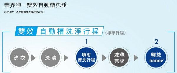 Panasonic國際牌 15KG不鏽鋼變頻洗衣機(NA-V168ABS)