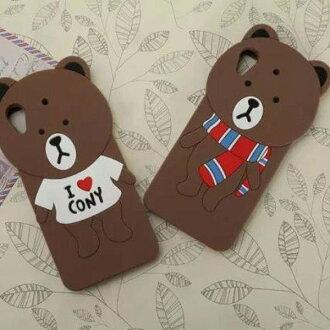 三星 Note2/3/4/ A7 A8 S6 LINE 熊大 布朗熊 矽膠套 手機殼 保護殼 手機套