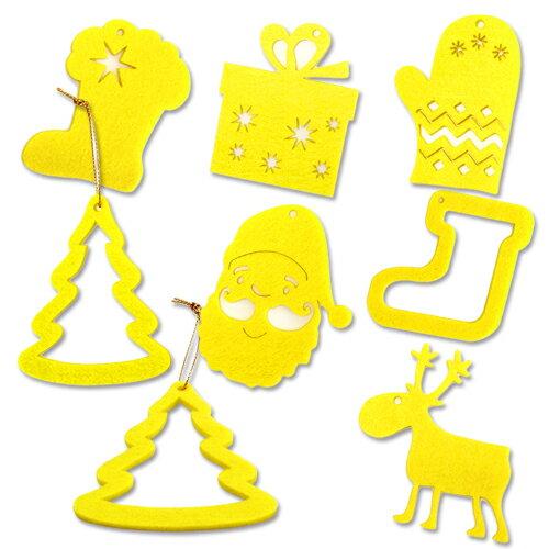 【客製化】8x8cm毛氈布聖誕吊飾(雷射切割外型) A90-1130-078