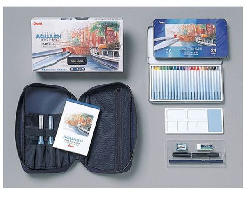 Pentel AQUASH 水溶性色鉛筆套雙裝24色 GSK4-24 HFPWP