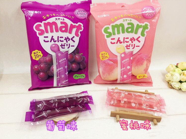 有樂町進口食品 日本進口 RIBON 立夢 果凍條 葡萄味/水蜜桃 10入/包 150g 4903316614175 0