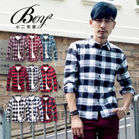 ☆BOY-2☆【NQ97012】美式休閒法蘭絨格紋長袖襯衫(M.L) 0