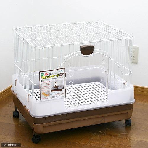 【日本Marukan】寵物兔防噴尿抽屜式兔籠MR-309/附防噴尿週圍板/實用日本款(贈神奇柑橘清籠劑)