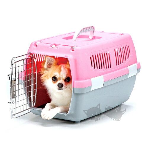 《 日本Marukan》可上開精巧提籠DP-173粉色/小型犬/猫用