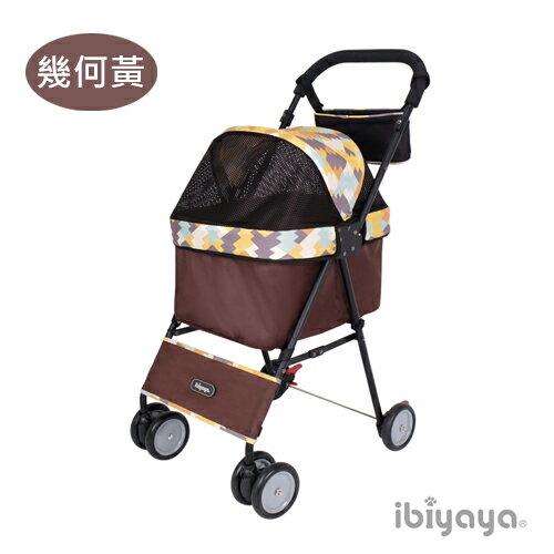 《 IBIYAYA依比呀呀 》黑旋風寵物推車FS1432 (機車可載推車) - 幾何黑 / 幾何黃