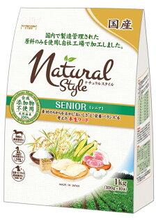 《日本Petio 》Natural Style自然風軟飼料 - 老犬專用1KG x 4包組 / 日本合格肉製成狗飼料【缺貨】