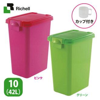 日本Richell《密封上掀食物保鮮桶》飼料桶儲糧桶S號3.5kg(10L)