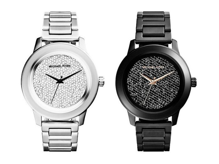 【MICHAEL KORS】正品 日夜星鑽時尚圓錶-夜 MK5999 MK 1
