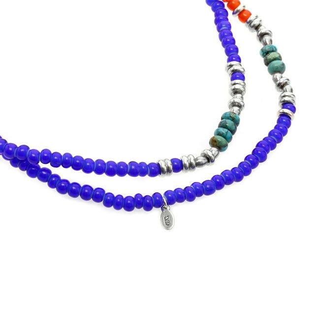 【現貨商品】【amp japan】紅藍混色玻璃多圈式串珠手鍊 (AMP-15AHK-404NV  0825640000) 3
