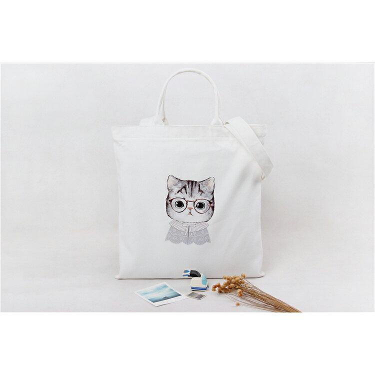手提包 手提包 帆布袋 手提袋 環保購物袋--手提/單肩/拉鏈【SPA92】 BOBI  10/06 2