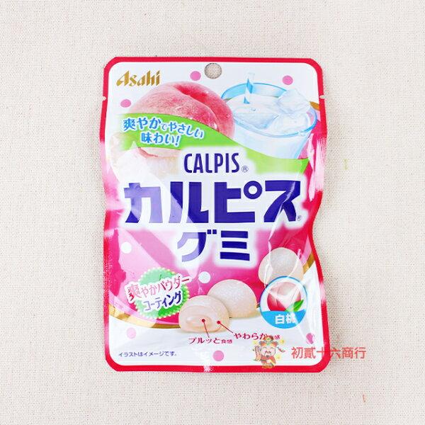 【0216零食會社】日本朝日Asahi-可爾必思軟糖(白桃口味)40g