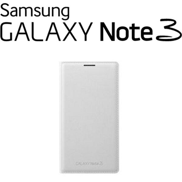 SAMSUNG GALAXY NOTE3 N9000原廠翻頁式皮套 側掀手機皮套【盒裝】-白色