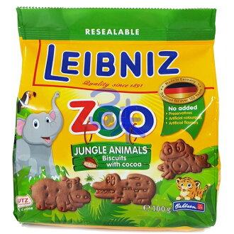 (德國) Bahlsen 百樂順 ZOO 巧克力動物餅 1包 100 公克 特價 74 元【4017100107214  】(Leibniz ZOO)