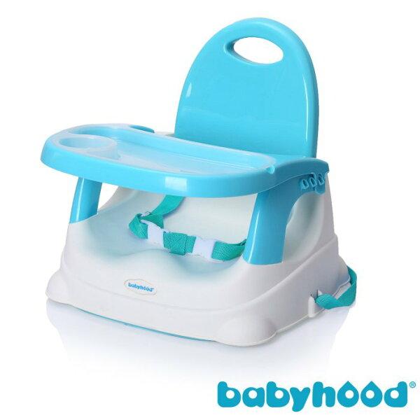 『121婦嬰用品館』傳佳知寶 babyhood 咕咕餐椅-湖藍 (附透明餐盤) (附透明餐盤)