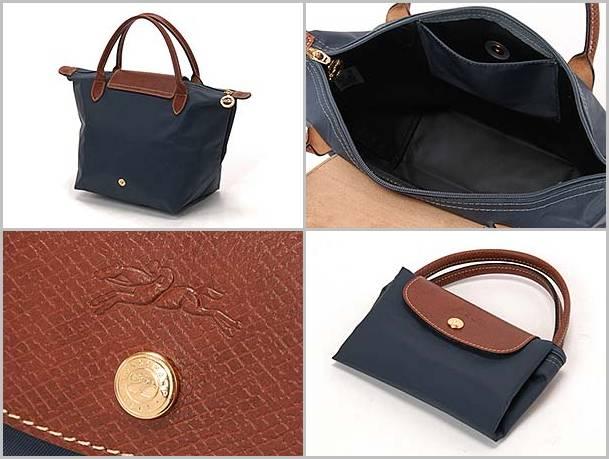 [短柄S號]國外Outlet代購正品 法國巴黎 Longchamp [1621-S號] 短柄 購物袋防水尼龍手提肩背水餃包 石墨灰 2