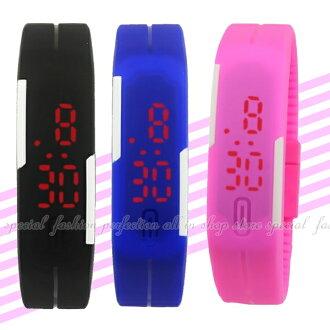 手環LED手錶 時尚手環錶 防水矽膠手錶帶 手環手錶運動錶【DD280】◎123便利屋◎