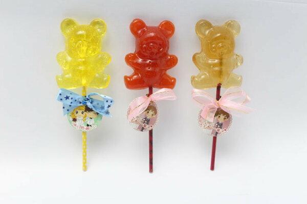 熊熊造型麥芽籤/ 30g/支 - 余大叔麥芽餅