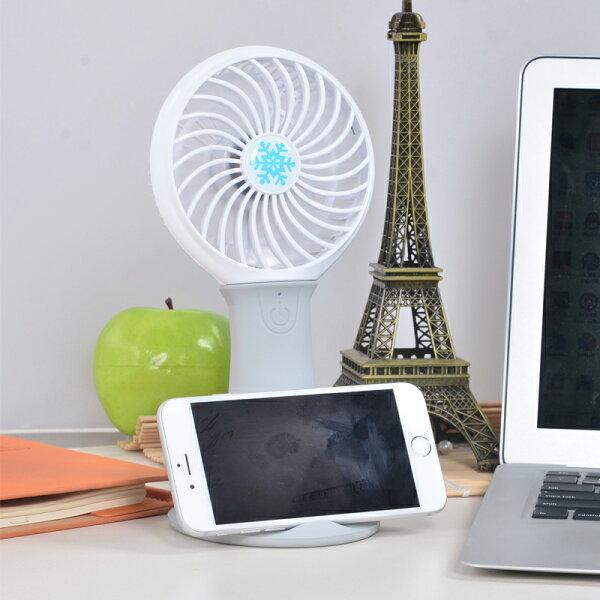 USB多功能充電式直立手機架風扇 深空灰 可照明 送18650鋰電池