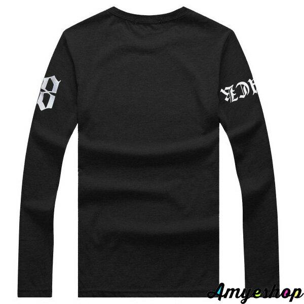 長袖   T-Shirt   情侶   MIT台灣製  羅馬五星98長T【G4257】艾咪E舖    情侶長袖 4