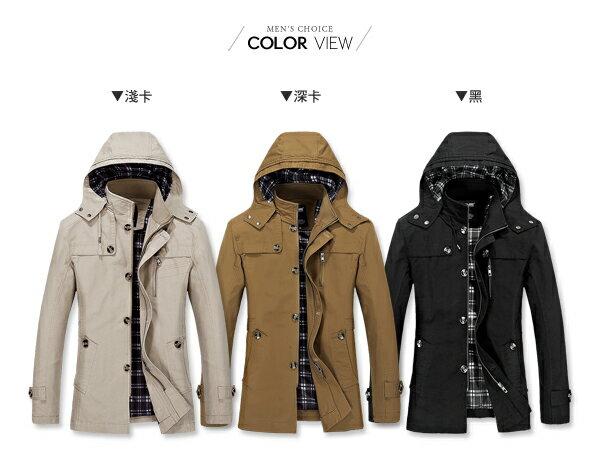 ☆BOY-2☆ 【NZ78018】軍裝高領連帽大衣外套 1