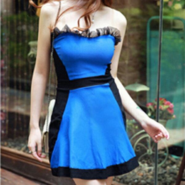 梅西蒂絲 -韓國平口露肩造型洋裝禮服