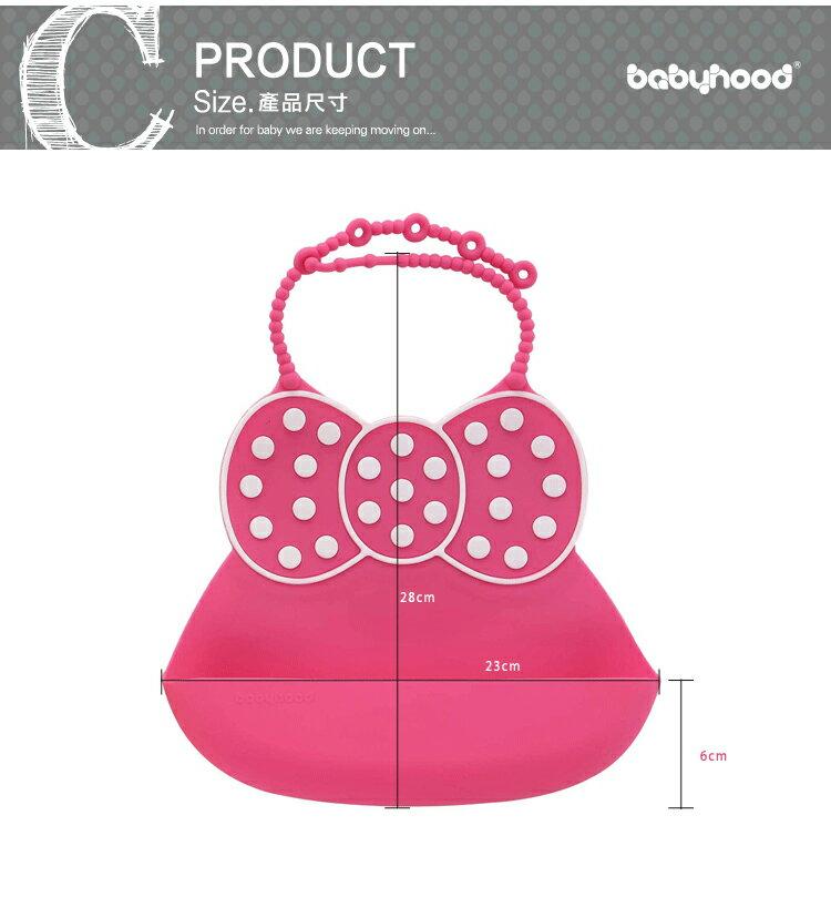 『121婦嬰用品館』傳佳知寶 babyhood 米妮矽膠圍兜 - 玫紅 6