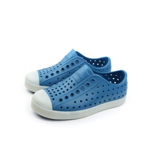 native JEFFERSON 夜光 洞洞鞋 童鞋 藍色 小童 no539