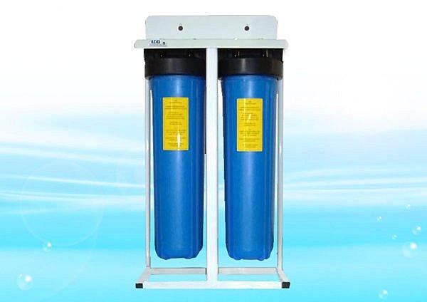**免運**ADD-XPC型水塔過濾器-大胖雙管腳架型(無附濾心)-NSF-ISO認證-進出口1英吋