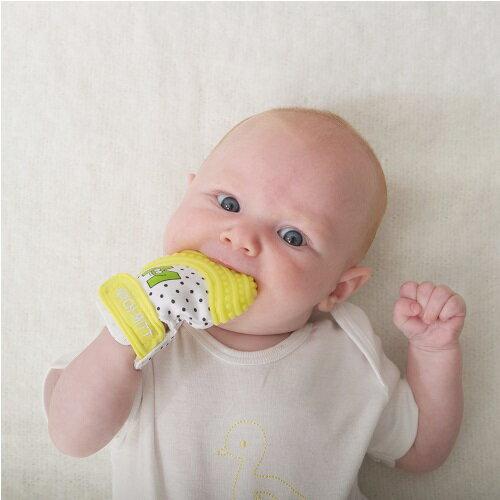 美國【Munch Mitt】手咬樂手套固齒器 (黃色) 2~5個月使用 1