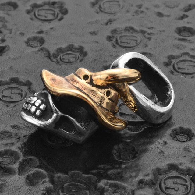 【現貨商品】【STARLINGEAR】漁夫帽骷髏純銀墜飾 (STP072BHSkull  0761090000) 2