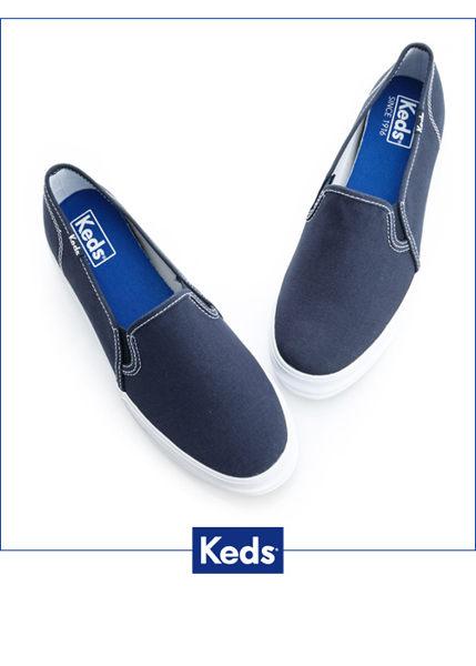 Keds 品牌經典厚底休閒便鞋(海軍藍) 3