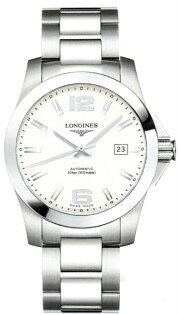 LONGINES L36774766經典征服者潛水機械男錶/白面41mm