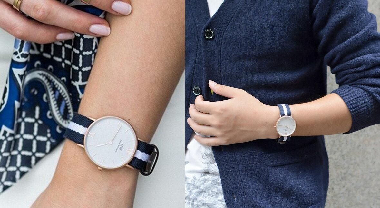 瑞典正品代購 Daniel Wellington 0552DW 玫瑰金 皮革 尼龍 帆布錶帶 男女錶 手錶腕錶 36MM 1