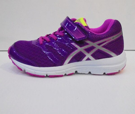 [陽光樂活]ASICS 亞瑟士 兒童慢跑鞋  紫X紅 C569N-393036