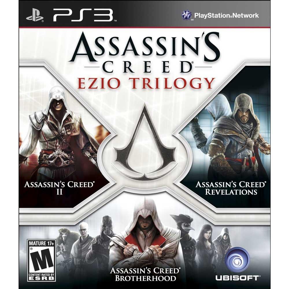 ^( 盒損^)PS3 刺客教條:Ezio三部曲 英文美版 合輯