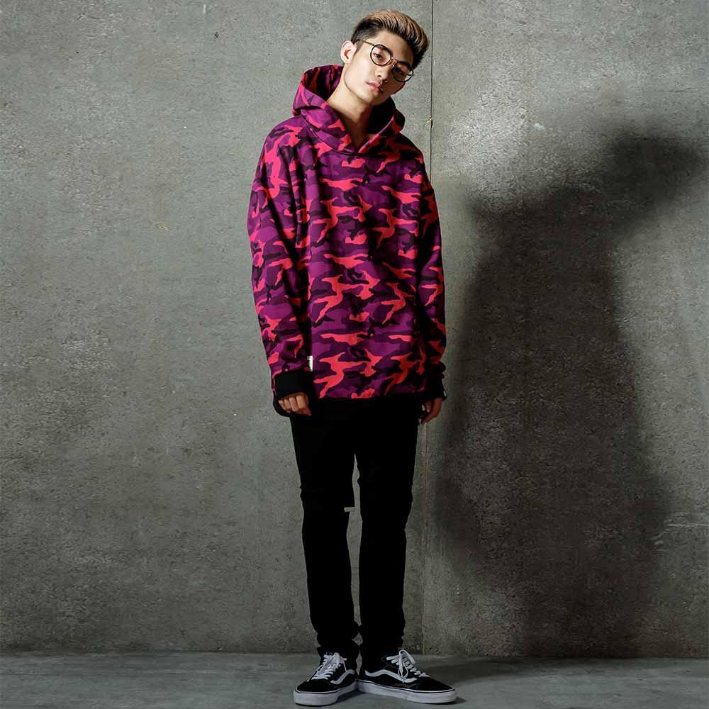 STAGE DJMS CAMO HOODIE 黑灰迷彩 / 紫紅迷彩 兩色 1