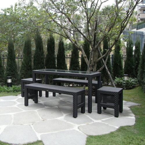 CEDAR 席德 野餐桌(大)戶外家具【7OCEANS七海休閒傢俱】EXPRESSO 黑褐色 2