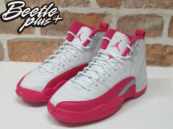 女鞋 BEETLE NIKE AIR JORDAN 12 RETRO GS 粉紅 情人節 510815-109 1