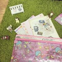 雙子星周邊商品推薦到PGS7 (現貨+預購) 日本卡通系列商品 - 三麗鷗 雙層 防水 收納袋 文件夾 檔案夾 雙子星 美樂蒂 蛋黃哥