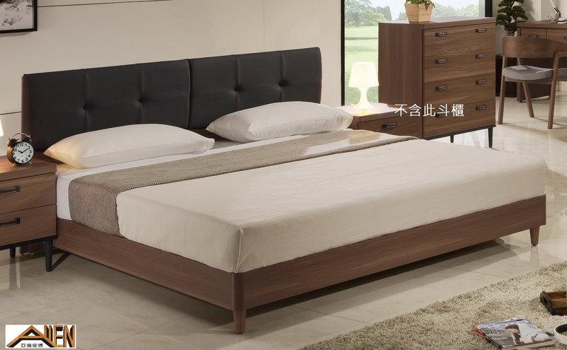 亞倫傢俱*亞當斯安全R角6尺雙人加大床架 (床頭片款) 0