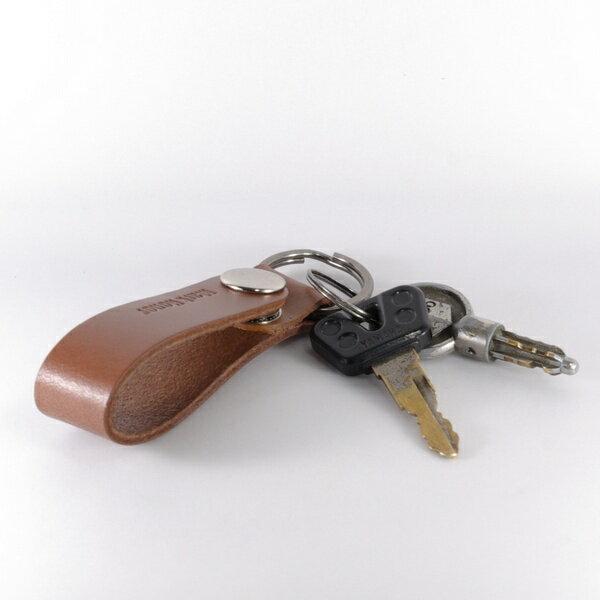 鑰匙圈 真皮 皮革 長版 咖啡 -Mark Honor